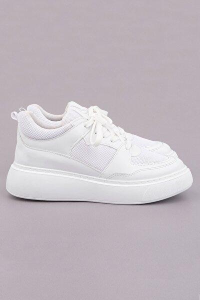 Kadın Beyaz Sneaker Ayakkabı Levido
