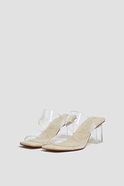 Kadın Vinil Topuklu Sandalet