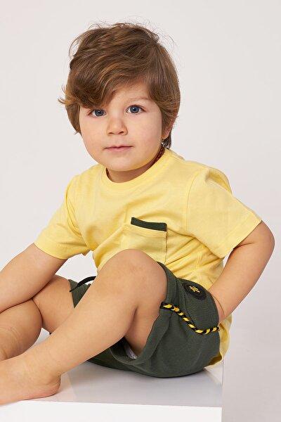 Erkek Çocuk Sarı Şortlu Takım  2-5 Yaş