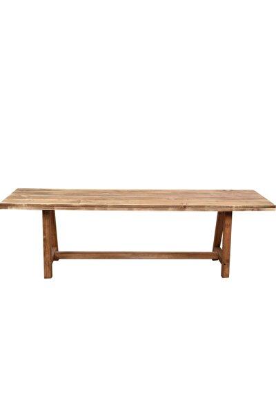 Kahverengi Ahşap Bank 150 cm Bench Sandalye