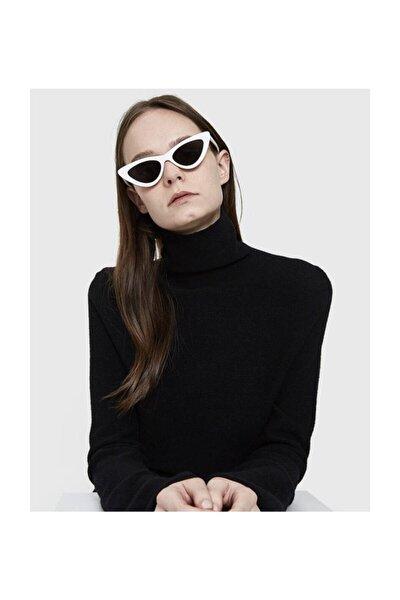 Cat Eye Beyaz Kadın Güneş Gözlüğü