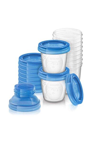 Anne Sütü Saklama Kabı 10 Adet 180 ml