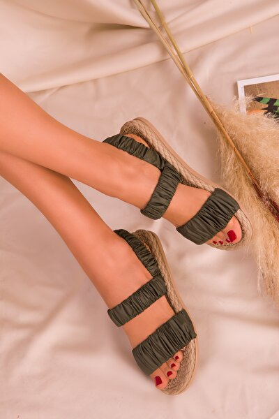 Haki  Kadın Sandalet 16057