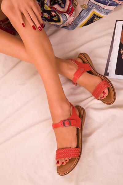 Turuncu  Kadın Sandalet 16072