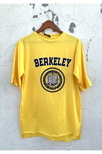 Kadın Berkeley Baskılı Duble Kol Sarı Tshirt