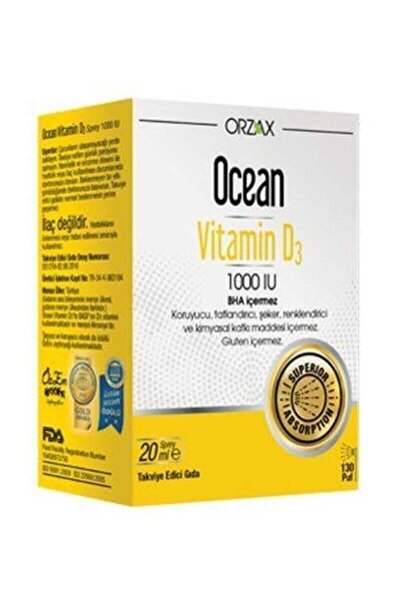 Vitamin D 3 1000 Iu 20 ml Sprey 12/2022