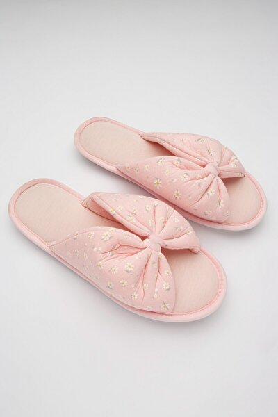 Kadın Gül Kurusu Mama Pink Ditsy Terlik
