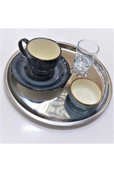 Çelik Kahve Sunum Tabağı 21 cm