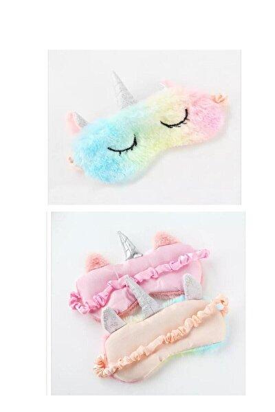 Peluş Unicorn Uyku Göz Bandı