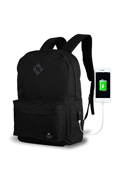 Smart Bag Specta Usb Şarj Girişli Akıllı Sırt Çantası Siyah