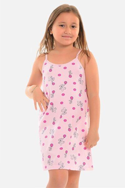 Kız Çocuk Pembe Ip Askılı Tunik