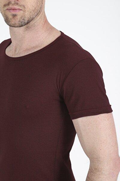 Erkek Bordo Basic Tshirt