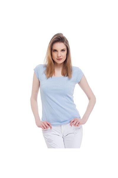 Kadın T-shirt Açık Mavi