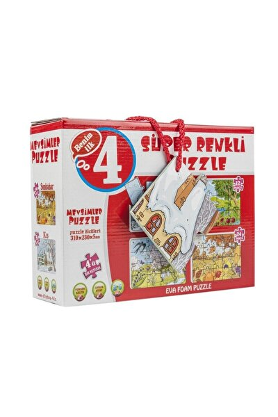 Süper Renkli Puzzle - Mevsimler
