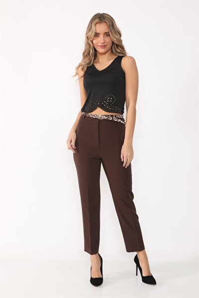 Kadın Kahverengi  Kumaş Pantolon