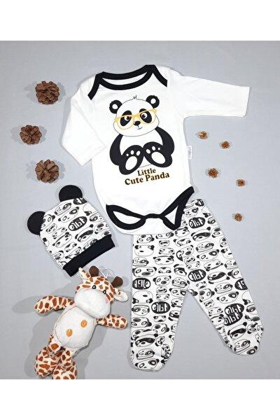 Panda Baskılı 3'lü Zıbın Seti