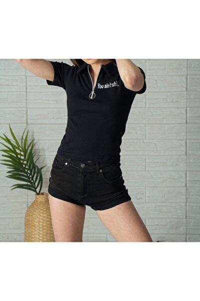Kadın Gömlek Yakalı T-shirt