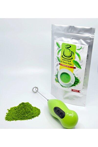 250 gram Yüksek Kaliteli Matcha Çayı Ücretsiz Elektronik Köpürtücü Ve 2 Adet Pil