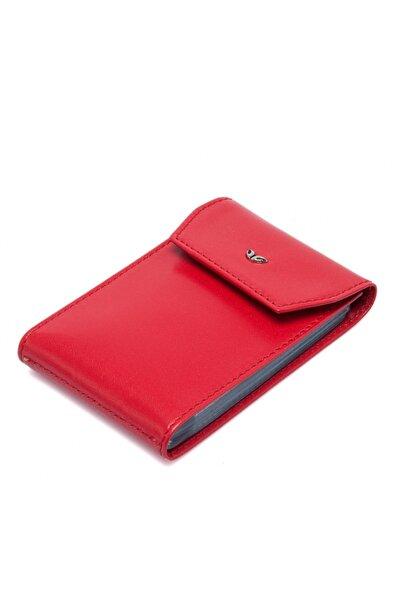 Hakiki Deri Kırmızı Unisex Kredi Kartlık S1KK00001193