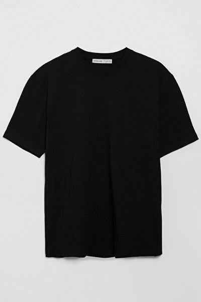 Solo Erkek Siyah Regular Fit T-shirt