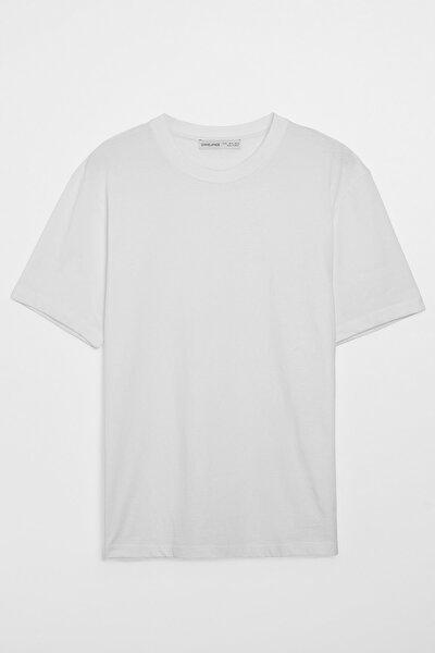 Solo Erkek Beyaz Regular Fit T-shirt