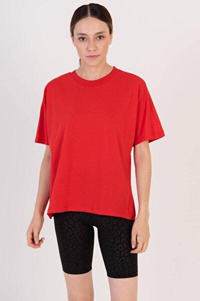 Kadın Narçiçeği Oversize Basic T-Shirt P0730 - J6J7 Adx-0000020569