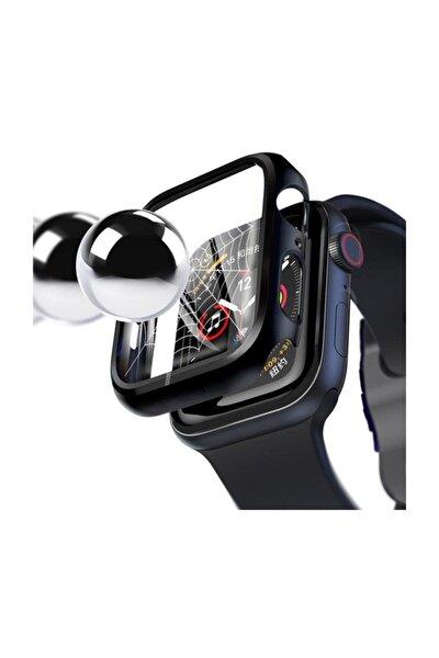 (Apple Watch Series 4-5 44mm 360 Derece Koruma+Kırılmaz Cam