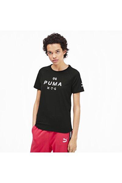 XTG GRAPHIC TOP Siyah Kadın T-Shirt 100569447