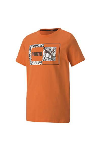 Erkek Çocuk Turuncu  Alpha Desenli T-Shirt