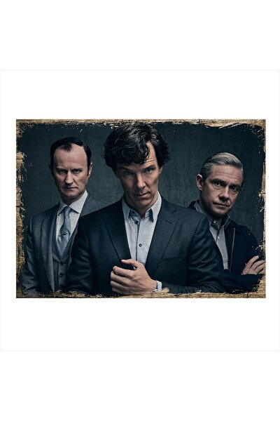 Sherlock Holmes Desenli Mdf Tablo