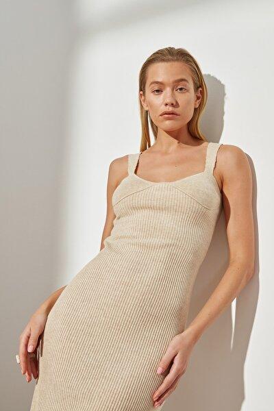 Taş Askılı Triko Elbise TWOSS21EL1815