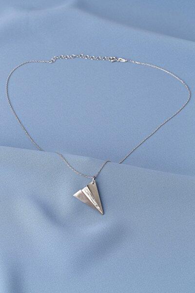 Kadın Uçak 925 Ayar Gümüş Kolye EKLNPRW9