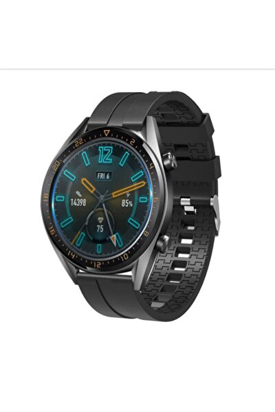 Huawei Gt2 Siyah Silikon Kordon Honor Magic Watch 2 Uyumlu 46mm Akıllı Saat 22 Mm Gt 2 Pro Gt 2e