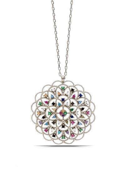 Kadın Yaşam Çiçeği Madalyon Gümüş Kolye