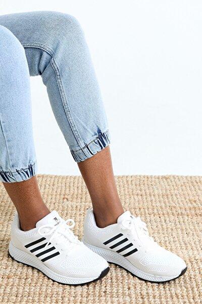 Unısex Spor Ayakkabı Beyaz Siyah Tb3006 -> 39 -> Beyaz Siyah