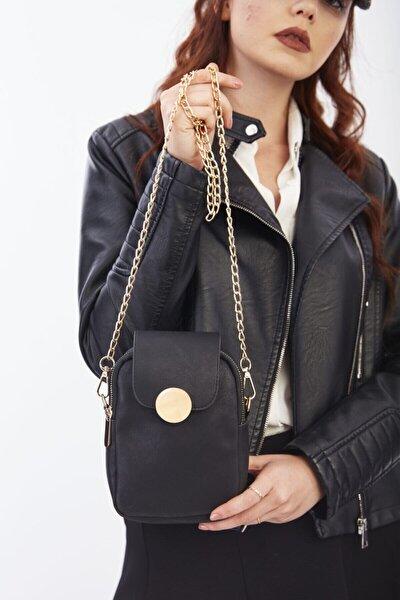 Kadın Siyah Arkası Telefon Gözlü Çanta Cty-lbn-0471