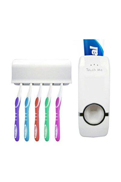 Otomatik Diş Macunu Sıkacağı Macun Sıkıcı 5 Li Diş Fırçası Tutucu Diş Fırçalığı Df678