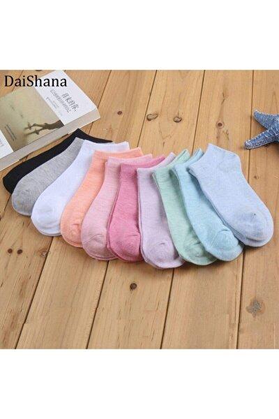10 Çift Koton Karışık Renk Kadın Patik Çorap Seti