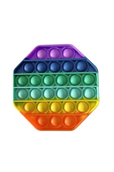 Pop It Push Bubble Fidget Pop Duyusal Oyuncak Zihinsel Anti Stres Oyuncapı Gökkuşağı Altıgen