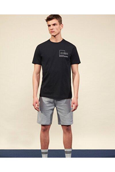 Graphic Tee M Crew Neck T-Shirt Erkek Siyah Tshirt