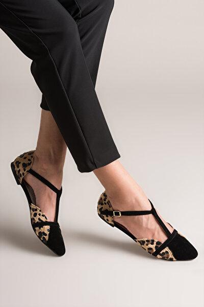 Leopar Siyah Kadın Ayakkabı B726881802