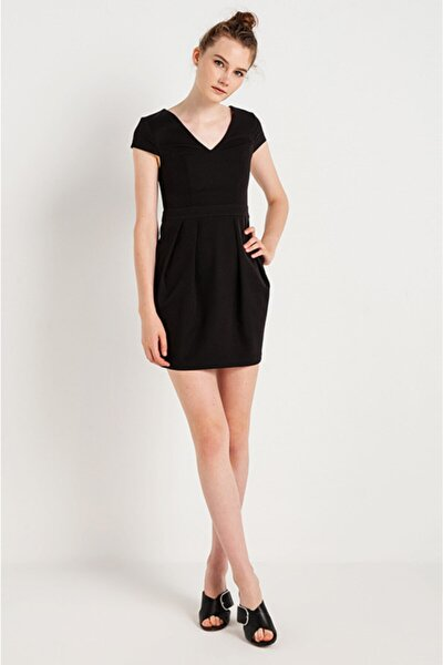 Kadın Sıyah Elbise 1823000609701