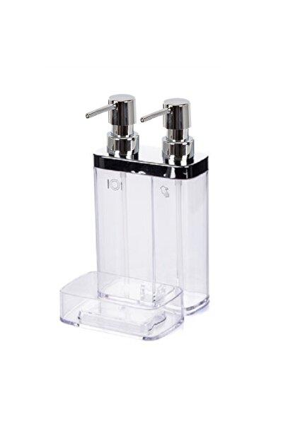 Prımanova Vıva M-e10-16 Sıvı Sabunluk 2lı Sungerlıklı Seffaf