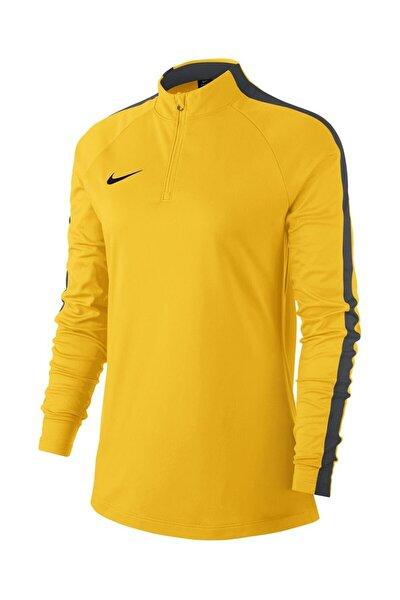 Kadın Sarı W Nk Dry Acdmy18 Drıl Top Ls Sweatshirt 893710-719