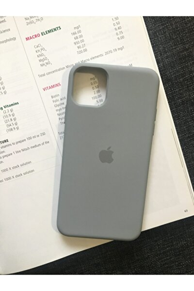 Iphone 11 Pro Max Uyumlu Logolu Lansman Içi Kadife Silikon Kılıf
