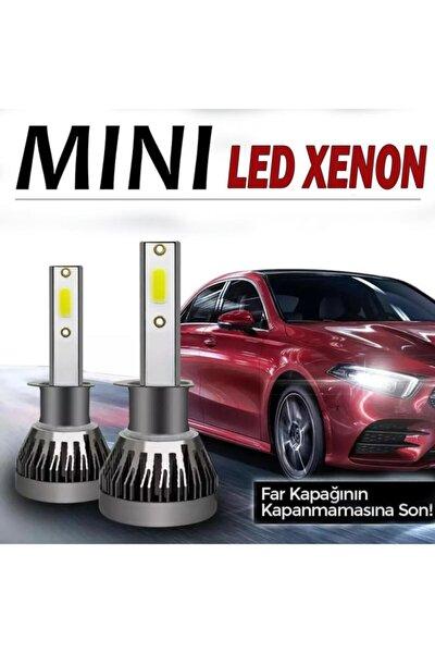 H7 Slim Led Xenon Şimşek Etkili Mini Fan 6000k 6400lm