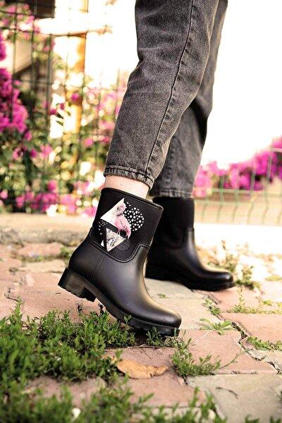 Kadın Siyah Yağmur Botu - 5882