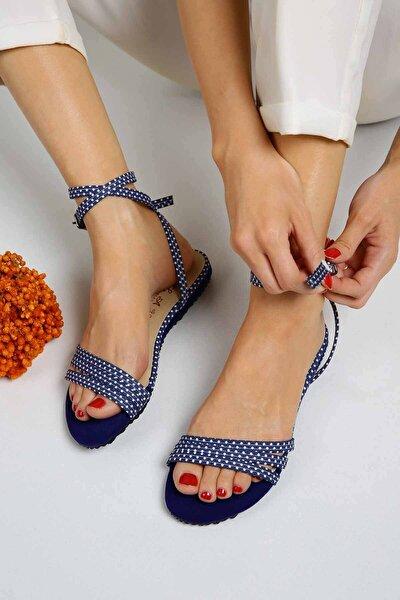 Kadın  3 Biyeli Sax Puanlı Sandalet 7009