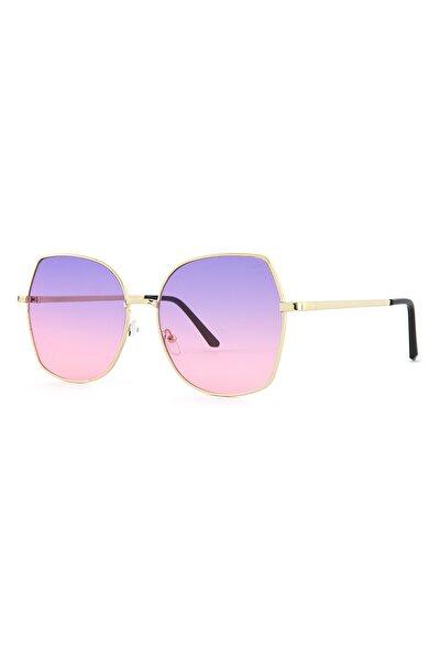 Basic Altın Kadın Güneş Gözlüğü Apss037803