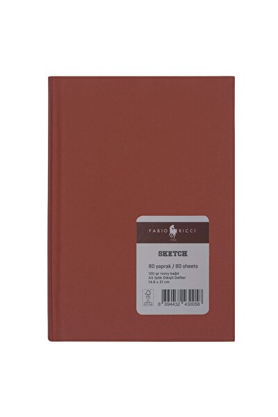 Skecth A5 14,8x21 Cm Bordo Ciltli Çizim Defteri